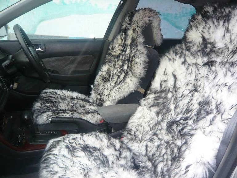 Путешествующим по Сибири: меховые чехлы для сидений