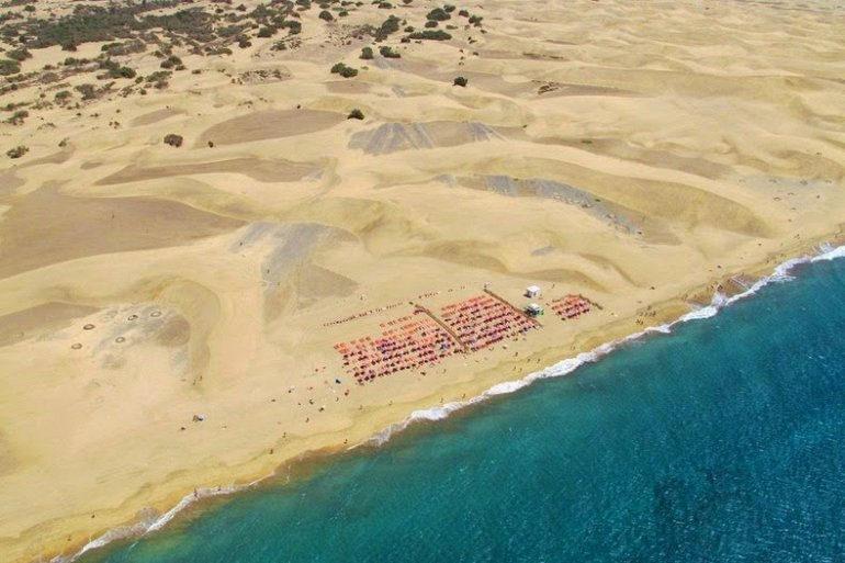 Песчаные дюны Маспаломас на Канарских островах (Испания)