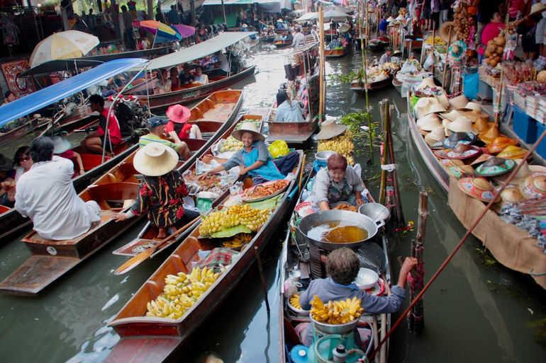 Плавучие рынки в Бангкоке