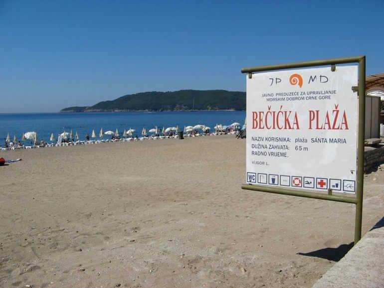 Курортный город Бечичи в Черногории