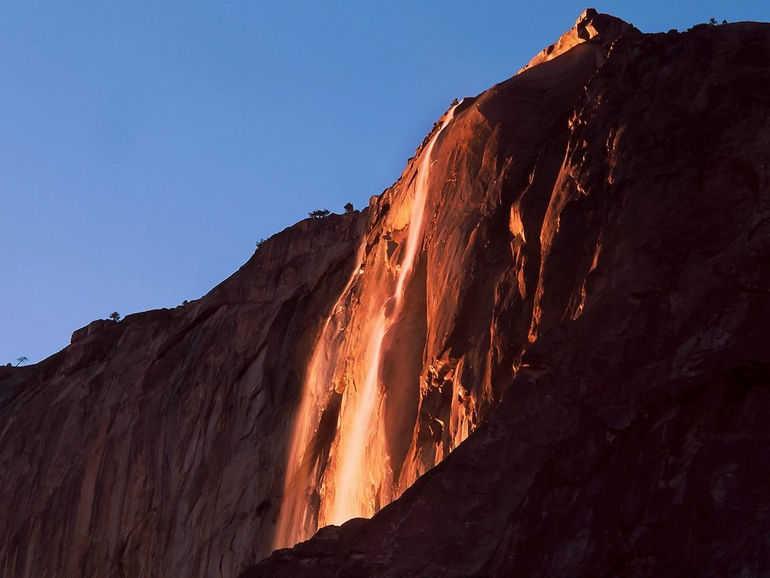 Огненный водопад Лошадиный хвост (США)