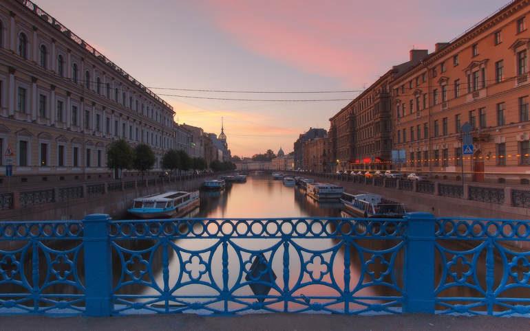 Мосты Санкт Петербурга. Синий мост