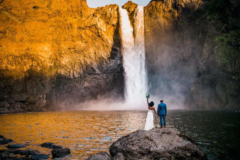 Водопад Сноквалми в штате Вашингтон (США)
