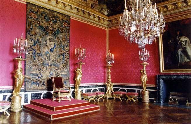 Зал Аполлона дворец в Версале Франция фото