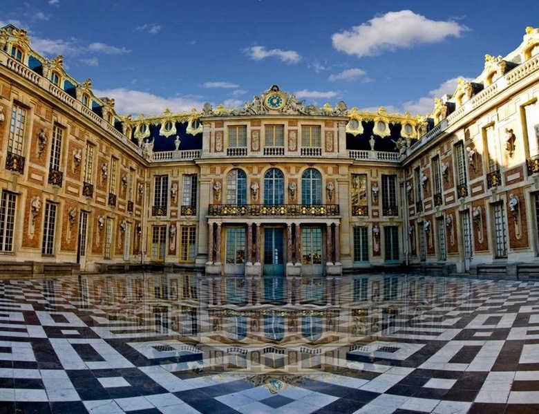Фото большой королевский дворец Версаль Франция