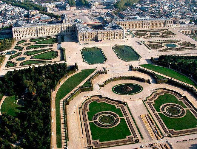 большой королевский дворец Версаль Франция фото