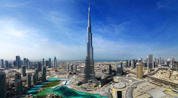 самое высокое здание в мире небоскреб Бурдж Халифа в Дубае фото