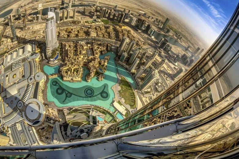 Фото смотровая площадка небоскреба Бурдж Халифа